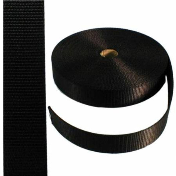 Nylon Webbing 1-1/2in Black *SOLD BY THE METER*