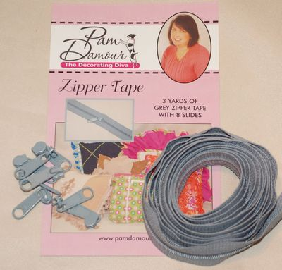 Zipper Tape 3yds Grey