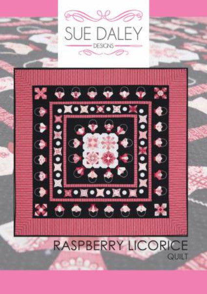 English Paper Piecing Raspberry Licorice Quilt