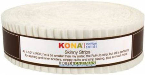 Skinny Strips Kona Solids - Snow