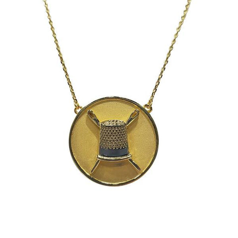 Coin Pendant Necklace -Gold
