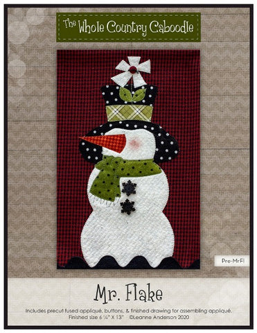 Mr. Snowflake Precut Fused Applique Pack