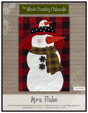 Mrs. Snowflake Precut Fused Applique Pack