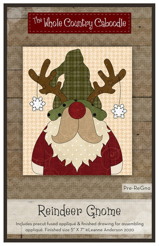 Reindeer Gnome Precut Fused Applique Pack