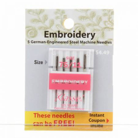 Classes Carded Embroidery Machine Needles 75/11