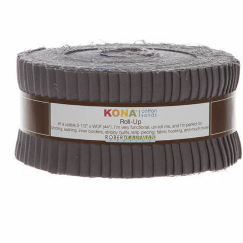 Roll Up Kona Solids - Coal