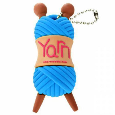 2GB USB Drive Yarn Skein Blue