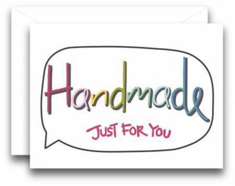 Gift Note Card Handmade Just For You Or Brought To You