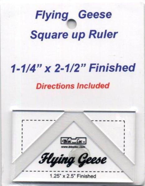 "Bloc Loc Flying Geese Ruler 1 1/4""x 2 1/2"" Finished"