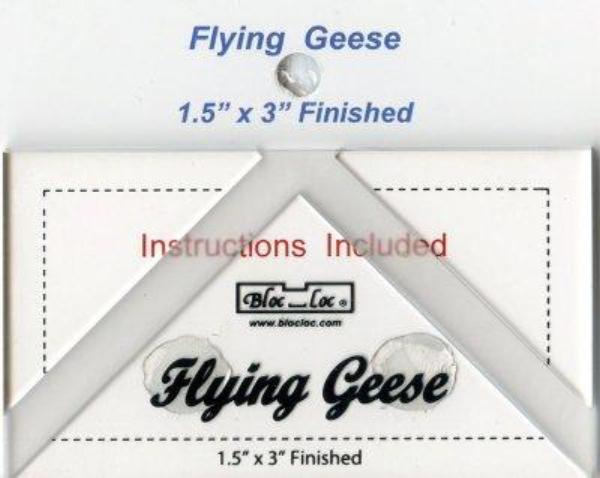"Bloc Loc Flying Geese Up Ruler 1 1/2""x 3"" Finished"