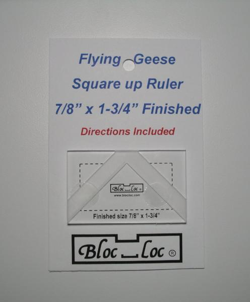"Bloc Loc Flying Geese Square Up Ruler 7/8""x 1 3/4"" Finished"