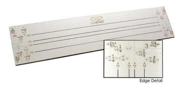"No-Slip Strip Ruler, 19"" Slots, 24"" Long"