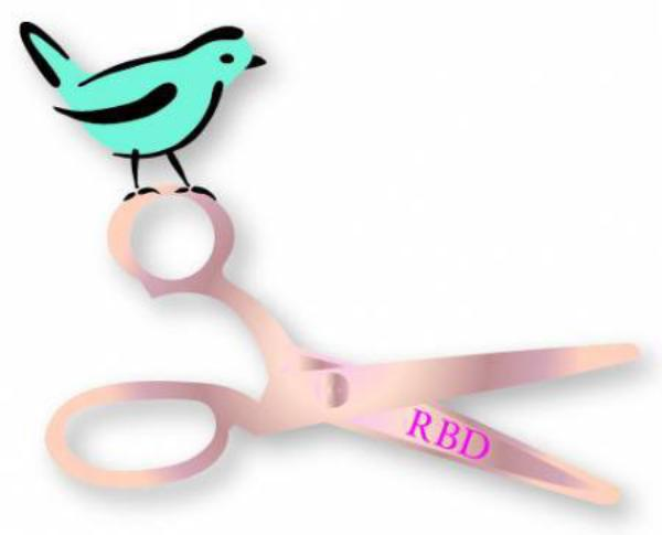 Enamel Pin RBD Bird And Scissor