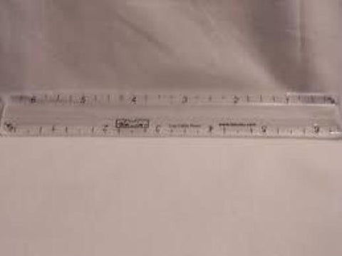 TQM Products Triangle Tool 2-1//2 Inch 3-1//2 Inch and 4-1//2 Inch Rulers