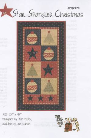 Star Spangled Christmas Pattern