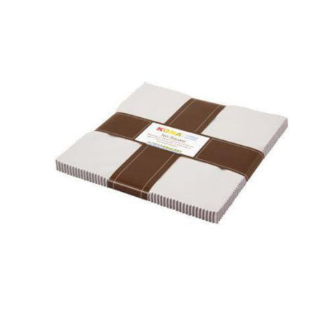 10 In Square Kona Solids White