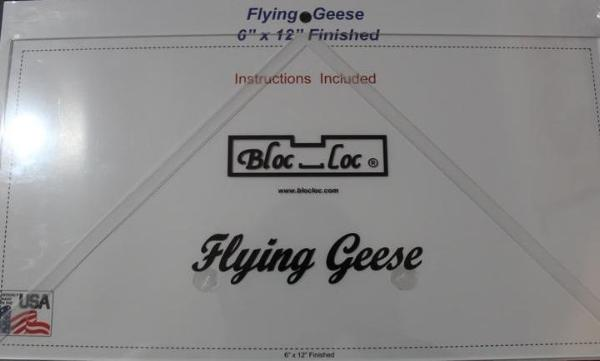 "Bloc Loc Flying Geese Square Up Ruler 6""x 12"" Finished"