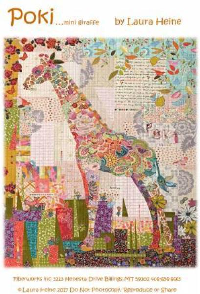 Poki Mini Giraffe Collage Pattern
