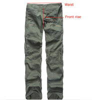 Womens Military Army Style Casual Cargo Pants - Low Rise