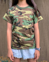 Backbone Boys Girls Kids Teens Army Style Training Scout Camp Outdoor Camo T-Shirt Tee