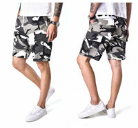 BACKBONE Mens Casual Cargo Shorts Army Military BDU Shorts with Zip Fly - Camo Colors
