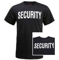 "BACKBONE Mens Army Style Short Sleeve ""SECURITY"" T-Shirt Tee"