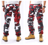 BACKBONE Mens Casual Cargo Pants Military Army Trousers BDU Pants Trousers with Zip Fly - Bright Camo Colors