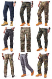 Mens Casual Multi-pocket Camouflage Cargo Pants Military Army Trousers BDU Pants Trousers with Zip Fly - RipStop Fabric