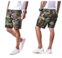 BACKBONE Mens Casual Cargo Shorts Army Military BDU Shorts with Zip Fly - RipStop Fabric