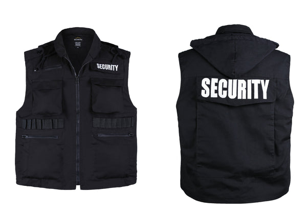 Mens SECURITY Vest Uniform -Black