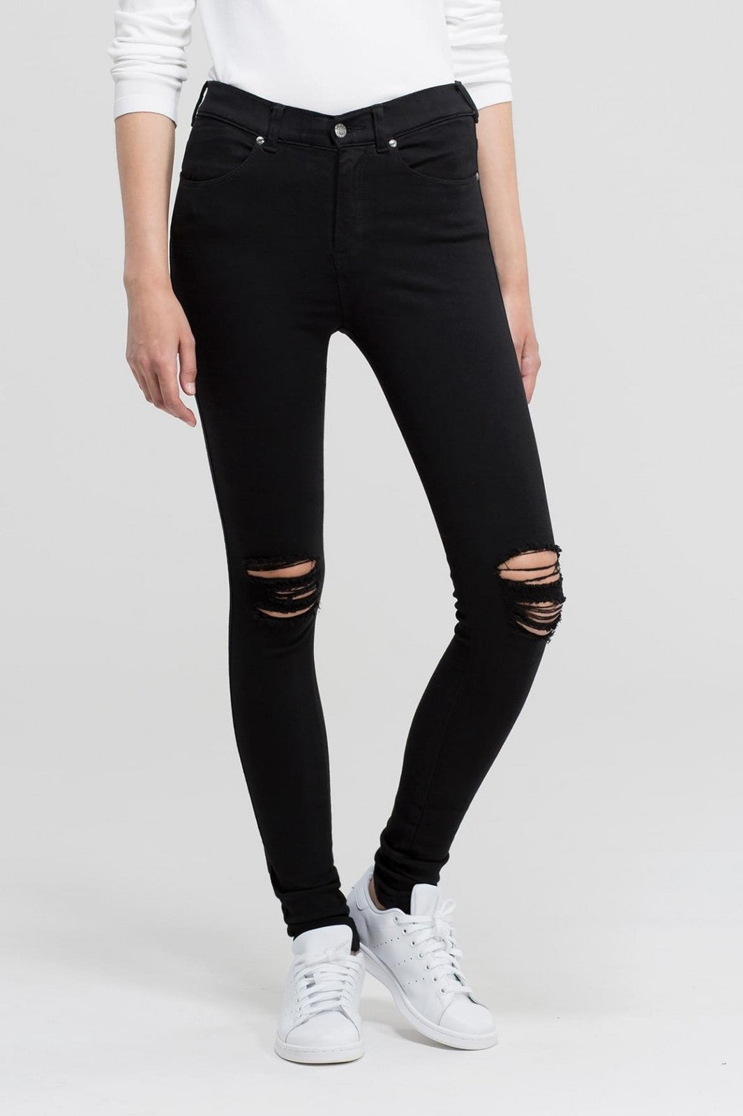 Lexy Jeans Black Ripped Knee