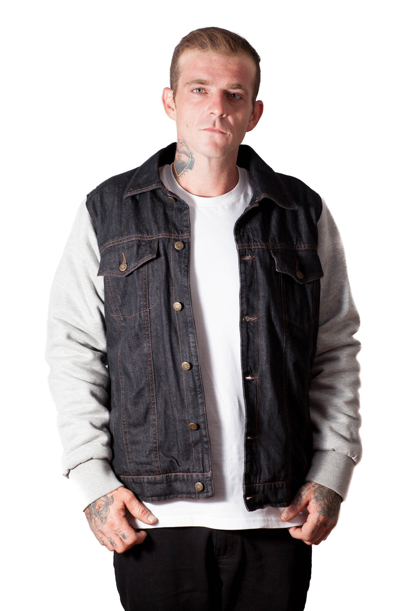 Denim and Cotton Jacket For Him