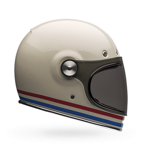 Bullitt Helmet | Stripes Pearl White