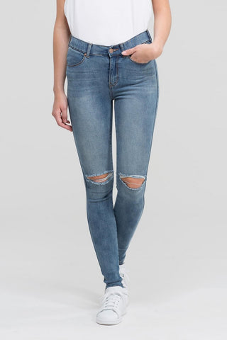 Lexy Jeans Light Stone Destroyed