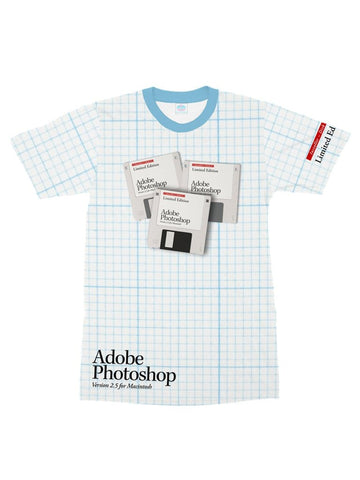 adobe photoshop floppy disk t-shirt