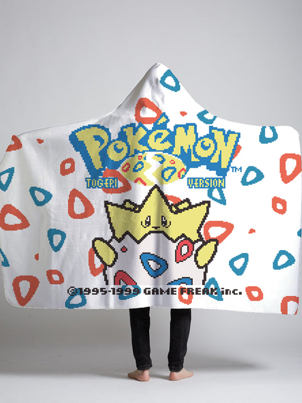 togepi hooded sherpa blanket