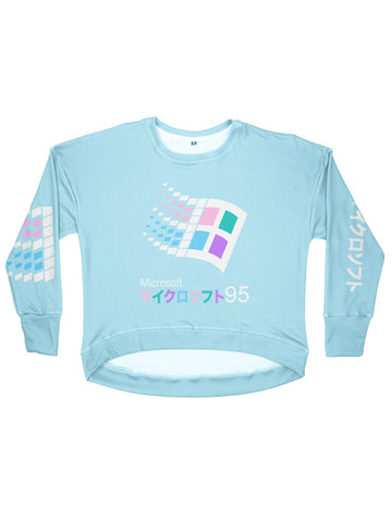 candy 95 women's drop shoulder sweatshirt