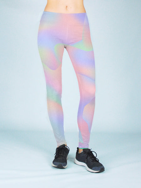 Hologram Yoga Pants - Public Space xyz - vaporwave aesthetic clothing fashion, kawaii, pastel, pastelgrunge, pastelwave, palewave
