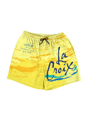 la croix lemon swim shorts