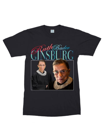 retro ruth bader ginsburg cotton t-shirt