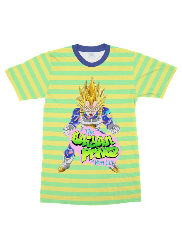 the saiyan prince (stripe) t-shirt