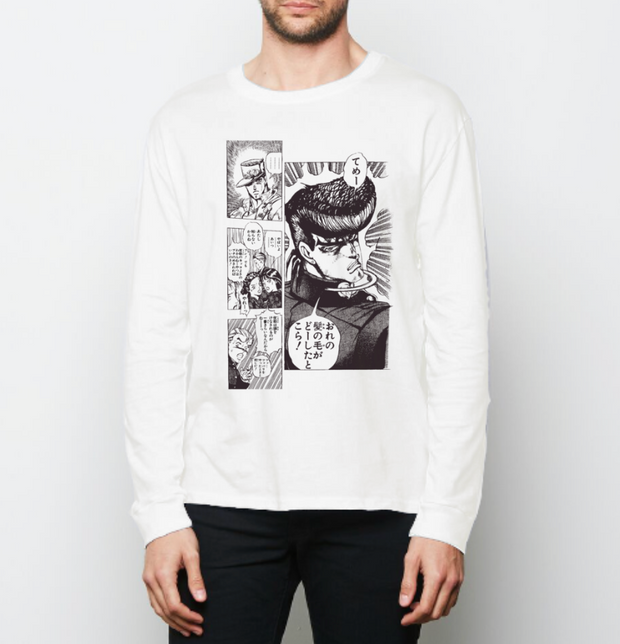 j0j0 manga sketch cotton long sleeve t