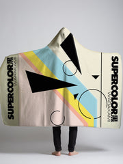 supercolor hooded sherpa blanket
