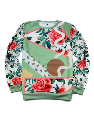 Fall Floral Sweatshirt - Public Space xyz - vaporwave aesthetic clothing fashion, kawaii, pastel, pastelgrunge, pastelwave, palewave