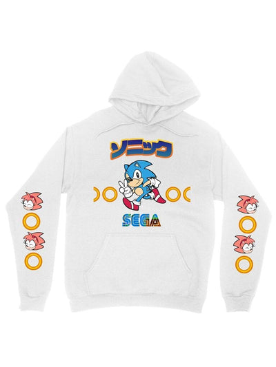 sonic rosy cotton hoodie