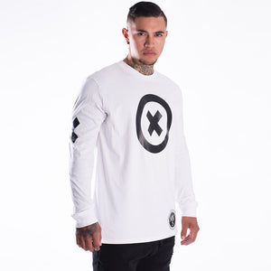 XoX white long sleeve tee