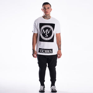 Mac Vicious white long length t-shirt