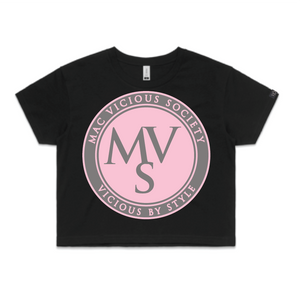 Crop Top MVS circle logo