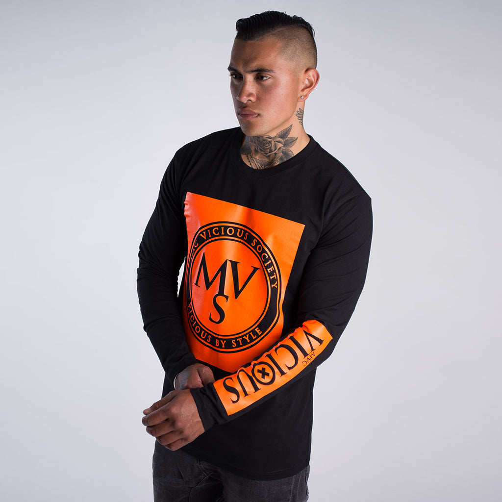 MVS Gen2 long sleeve tee Orange print