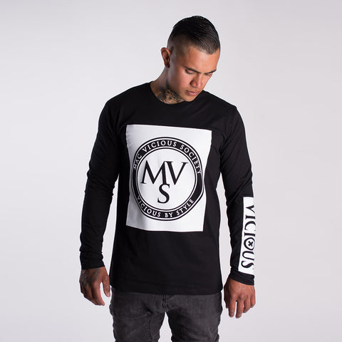 MVS Gen2 long sleeve tee White print